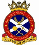 1001 (Monklands) Air Training Corps (ATC)/Air Cadets Squadron badge. Click to go to the 1001 (Monklands) Air Training Corps (ATC)/Air Cadets homepage