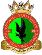 1032 (Yeovil) Air Training Corps (ATC)/Air Cadets Squadron badge. Click to go to the 1032 (Yeovil) Air Training Corps (ATC)/Air Cadets homepage