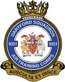 1051 (Dartford) Air Training Corps (ATC)/Air Cadets Squadron badge. Click to go to the 1051 (Dartford) Air Training Corps (ATC)/Air Cadets homepage