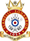 1054 (Llanelli) Air Training Corps (ATC)/Air Cadets Squadron badge. Click to go to the 1054 (Llanelli) Air Training Corps (ATC)/Air Cadets homepage