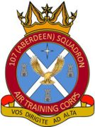 107 (Aberdeen) Air Training Corps (ATC)/Air Cadets Squadron badge. Click to go to the 107 (Aberdeen) Air Training Corps (ATC)/Air Cadets homepage