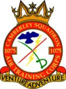 1075 (Camberley) Air Training Corps (ATC)/Air Cadets Squadron badge. Click to go to the 1075 (Camberley) Air Training Corps (ATC)/Air Cadets homepage