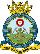 1082 (Brimington & District) Air Training Corps (ATC)/Air Cadets Squadron badge. Click to go to the 1082 (Brimington & District) Air Training Corps (ATC)/Air Cadets homepage