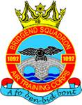 1092 (Bridgend) Air Training Corps (ATC)/Air Cadets Squadron badge. Click to go to the 1092 (Bridgend) Air Training Corps (ATC)/Air Cadets homepage