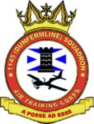 1145 (Dunfermline) Air Training Corps (ATC)/Air Cadets Squadron badge. Click to go to the 1145 (Dunfermline) Air Training Corps (ATC)/Air Cadets homepage