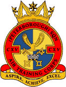 115 (Peterborough) Air Training Corps (ATC)/Air Cadets Squadron badge. Click to go to the 115 (Peterborough) Air Training Corps (ATC)/Air Cadets homepage