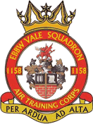 1158 (Ebbw Vale) Air Training Corps (ATC)/Air Cadets Squadron badge. Click to go to the 1158 (Ebbw Vale) Air Training Corps (ATC)/Air Cadets homepage