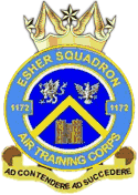 1172 (Esher) Air Training Corps (ATC)/Air Cadets Squadron badge. Click to go to the 1172 (Esher) Air Training Corps (ATC)/Air Cadets homepage