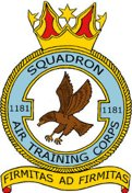 1181 (Syston) Air Training Corps (ATC)/Air Cadets Squadron badge. Click to go to the 1181 (Syston) Air Training Corps (ATC)/Air Cadets homepage