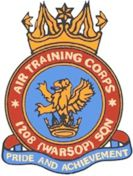 1208 (Warsop) Air Training Corps (ATC)/Air Cadets Squadron badge. Click to go to the 1208 (Warsop) Air Training Corps (ATC)/Air Cadets homepage