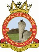 1223 (Caerphilly) Air Training Corps (ATC)/Air Cadets Squadron badge. Click to go to the 1223 (Caerphilly) Air Training Corps (ATC)/Air Cadets homepage