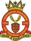 1242 (Faversham) Air Training Corps (ATC)/Air Cadets Squadron badge. Click to go to the 1242 (Faversham) Air Training Corps (ATC)/Air Cadets homepage