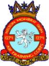 1279 (Melton Mowbray) Air Training Corps (ATC)/Air Cadets Squadron badge. Click to go to the 1279 (Melton Mowbray) Air Training Corps (ATC)/Air Cadets homepage