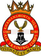 1280 (Rickmansworth) Air Training Corps (ATC)/Air Cadets Squadron badge. Click to go to the 1280 (Rickmansworth) Air Training Corps (ATC)/Air Cadets homepage
