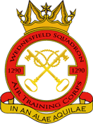 1290 (Wednesfield) Air Training Corps (ATC)/Air Cadets Squadron badge. Click to go to the 1290 (Wednesfield) Air Training Corps (ATC)/Air Cadets homepage