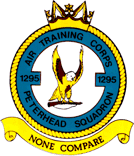 1295 (Peterhead) Air Training Corps (ATC)/Air Cadets Squadron badge. Click to go to the 1295 (Peterhead) Air Training Corps (ATC)/Air Cadets homepage