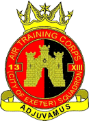 13 (City of Exeter) Air Training Corps (ATC)/Air Cadets Squadron badge. Click to go to the 13 (City of Exeter) Air Training Corps (ATC)/Air Cadets homepage