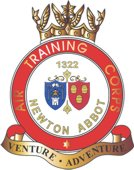 1322 (Newton Abbot) Air Training Corps (ATC)/Air Cadets Squadron badge. Click to go to the 1322 (Newton Abbot) Air Training Corps (ATC)/Air Cadets homepage