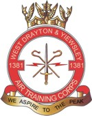 1381 (West Drayton & Yiewsley) Air Training Corps (ATC)/Air Cadets Squadron badge. Click to go to the 1381 (West Drayton & Yiewsley) Air Training Corps (ATC)/Air Cadets homepage
