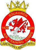 1429 (Cardigan & Aberporth) Air Training Corps (ATC)/Air Cadets Squadron badge. Click to go to the 1429 (Cardigan & Aberporth) Air Training Corps (ATC)/Air Cadets homepage