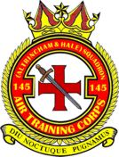 145 (Altrincham & Hale) Air Training Corps (ATC)/Air Cadets Squadron badge. Click to go to the 145 (Altrincham & Hale) Air Training Corps (ATC)/Air Cadets homepage