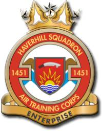 1451 (Haverhill) Air Training Corps (ATC)/Air Cadets Squadron badge. Click to go to the 1451 (Haverhill) Air Training Corps (ATC)/Air Cadets homepage
