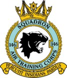 146 (Northwich) Air Training Corps (ATC)/Air Cadets Squadron badge. Click to go to the 146 (Northwich) Air Training Corps (ATC)/Air Cadets homepage