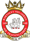148 (Barnsley) Air Training Corps (ATC)/Air Cadets Squadron badge. Click to go to the 148 (Barnsley) Air Training Corps (ATC)/Air Cadets homepage