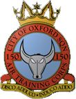 150 (City of Oxford) Air Training Corps (ATC)/Air Cadets Squadron badge. Click to go to the 150 (City of Oxford) Air Training Corps (ATC)/Air Cadets homepage