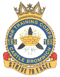 165 (Castle Bromwich) Air Training Corps (ATC)/Air Cadets Squadron badge. Click to go to the 165 (Castle Bromwich) Air Training Corps (ATC)/Air Cadets homepage