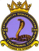 188 (Ipswich) Air Training Corps (ATC)/Air Cadets Squadron badge. Click to go to the 188 (Ipswich) Air Training Corps (ATC)/Air Cadets homepage