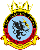 1890 (Dronfield) Air Training Corps (ATC)/Air Cadets Squadron badge. Click to go to the 1890 (Dronfield) Air Training Corps (ATC)/Air Cadets homepage