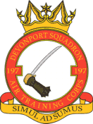 197 (Devonport) Air Training Corps (ATC)/Air Cadets Squadron badge. Click to go to the 197 (Devonport) Air Training Corps (ATC)/Air Cadets homepage