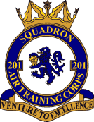 201 (Macclesfield) Air Training Corps (ATC)/Air Cadets Squadron badge. Click to go to the 201 (Macclesfield) Air Training Corps (ATC)/Air Cadets homepage