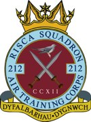 212 (Risca) Air Training Corps (ATC)/Air Cadets Squadron badge. Click to go to the 212 (Risca) Air Training Corps (ATC)/Air Cadets homepage