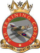 2124 (Bristol Airport) Air Training Corps (ATC)/Air Cadets Squadron badge. Click to go to the 2124 (Bristol Airport) Air Training Corps (ATC)/Air Cadets homepage