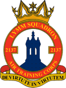 2137 (Lymm) Air Training Corps (ATC)/Air Cadets Squadron badge. Click to go to the 2137 (Lymm) Air Training Corps (ATC)/Air Cadets homepage