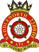 2200 (Saddleworth) Detached Flight Air Training Corps (ATC)/Air Cadets Squadron badge. Click to go to the 2200 (Saddleworth) Detached Flight Air Training Corps (ATC)/Air Cadets homepage