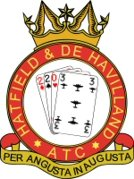 2203 (Hatfield & de Havilland) Air Training Corps (ATC)/Air Cadets Squadron badge. Click to go to the 2203 (Hatfield & de Havilland) Air Training Corps (ATC)/Air Cadets homepage