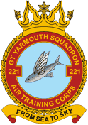 221 (Great Yarmouth) Air Training Corps (ATC)/Air Cadets Squadron badge. Click to go to the 221 (Great Yarmouth) Air Training Corps (ATC)/Air Cadets homepage