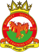 2213 (Rumney) Air Training Corps (ATC)/Air Cadets Squadron badge. Click to go to the 2213 (Rumney) Air Training Corps (ATC)/Air Cadets homepage