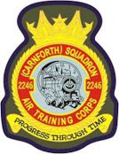 2246 (Carnforth) Air Training Corps (ATC)/Air Cadets Squadron badge. Click to go to the 2246 (Carnforth) Air Training Corps (ATC)/Air Cadets homepage