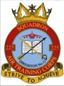 225 (Brighton No1) Air Training Corps (ATC)/Air Cadets Squadron badge. Click to go to the 225 (Brighton No1) Air Training Corps (ATC)/Air Cadets homepage