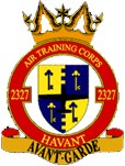 2327 (Havant) Air Training Corps (ATC)/Air Cadets Squadron badge. Click to go to the 2327 (Havant) Air Training Corps (ATC)/Air Cadets homepage