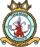 2353 (Ystrad Mynach) Air Training Corps (ATC)/Air Cadets Squadron badge. Click to go to the 2353 (Ystrad Mynach) Air Training Corps (ATC)/Air Cadets homepage
