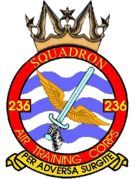 236 (Bollington) Air Training Corps (ATC)/Air Cadets Squadron badge. Click to go to the 236 (Bollington) Air Training Corps (ATC)/Air Cadets homepage
