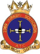 2369 (Kirkby) Air Training Corps (ATC)/Air Cadets Squadron badge. Click to go to the 2369 (Kirkby) Air Training Corps (ATC)/Air Cadets homepage