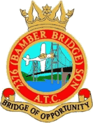 2376 (Bamber Bridge) Air Training Corps (ATC)/Air Cadets Squadron badge. Click to go to the 2376 (Bamber Bridge) Air Training Corps (ATC)/Air Cadets homepage