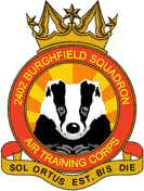 2402 (Burghfield) Air Training Corps (ATC)/Air Cadets Squadron badge. Click to go to the 2402 (Burghfield) Air Training Corps (ATC)/Air Cadets homepage