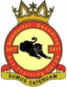 2417 (Newmarket) Air Training Corps (ATC)/Air Cadets Squadron badge. Click to go to the 2417 (Newmarket) Air Training Corps (ATC)/Air Cadets homepage